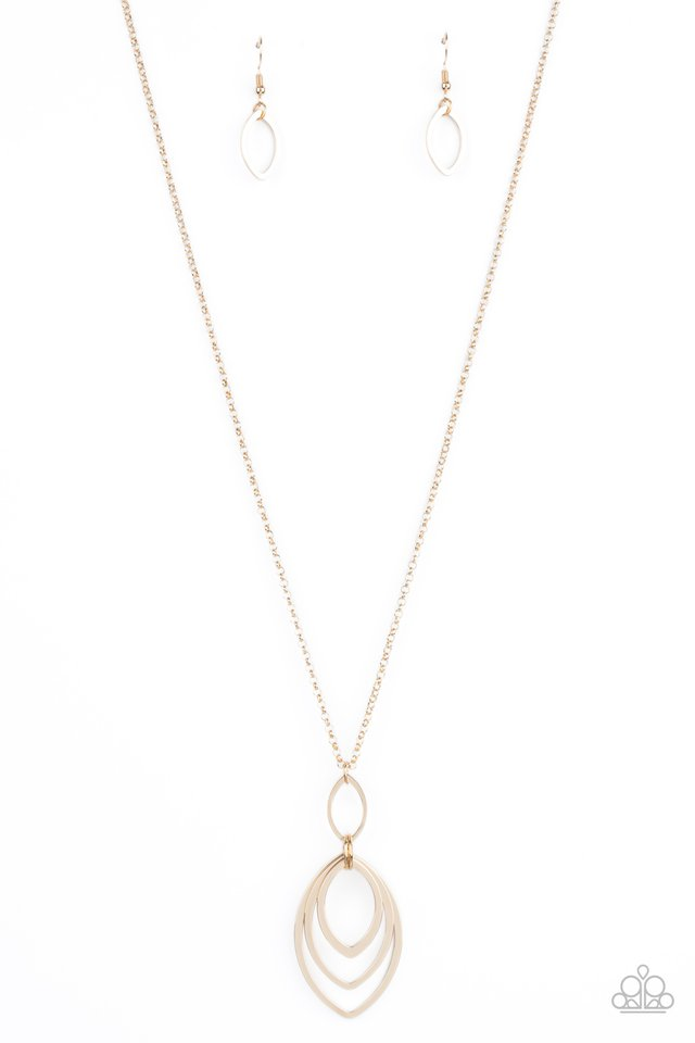 ​Dizzying Definition - Gold - Paparazzi Necklace Image