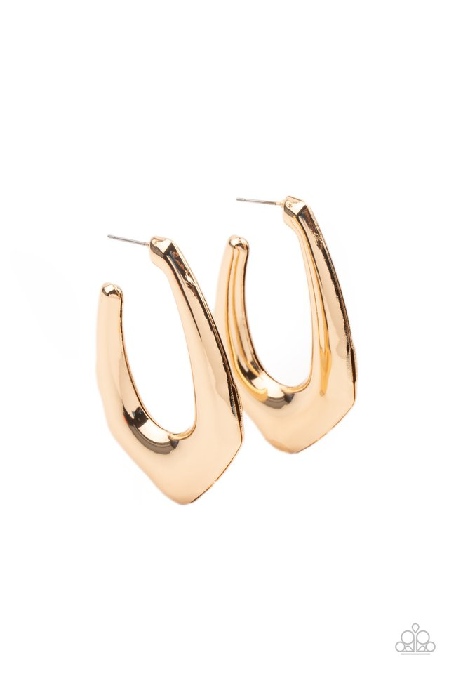 Find Your Anchor - Gold - Paparazzi Earring Image
