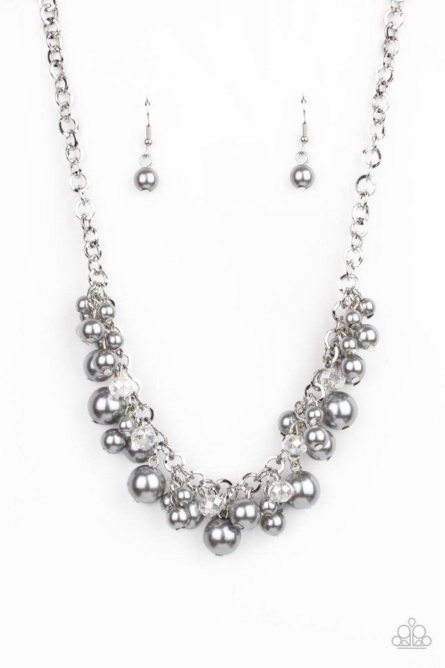 Positively PEARL-escent - Silver - Paparazzi Necklace Image