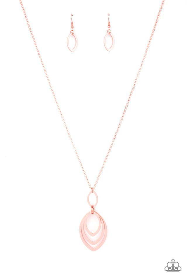 Dizzying Definition - Copper - Paparazzi Necklace Image