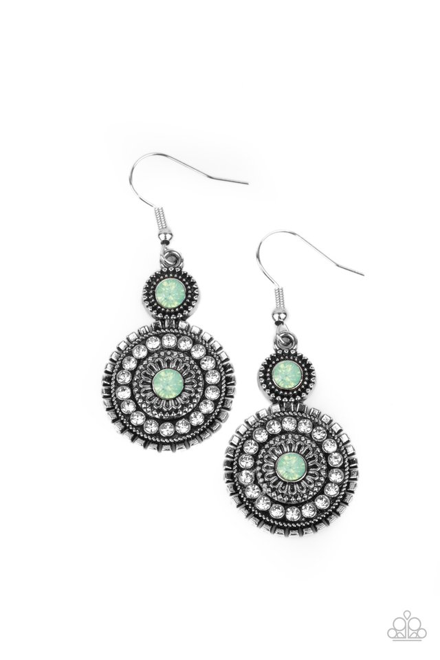Opulent Outreach - Green - Paparazzi Earring Image