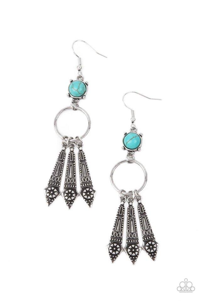 Prana Paradise - Blue - Paparazzi Earring Image