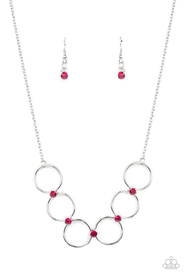 Regal Society - Pink - Paparazzi Necklace Image