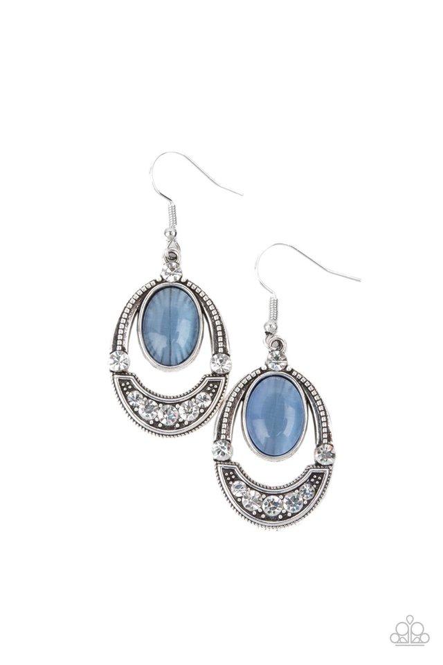 Serene Shimmer - Blue - Paparazzi Earring Image