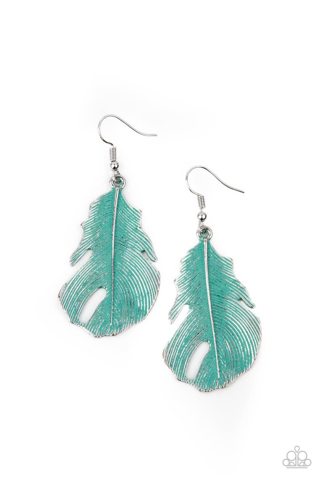 Heads QUILL Roll - Blue - Paparazzi Earring Image
