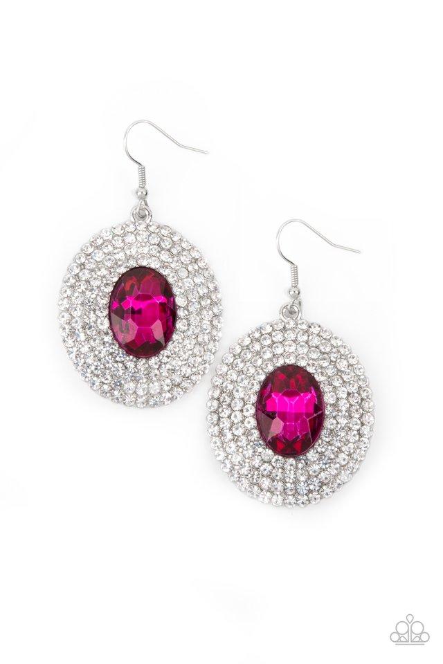 FIERCE Field - Pink - Paparazzi Earring Image