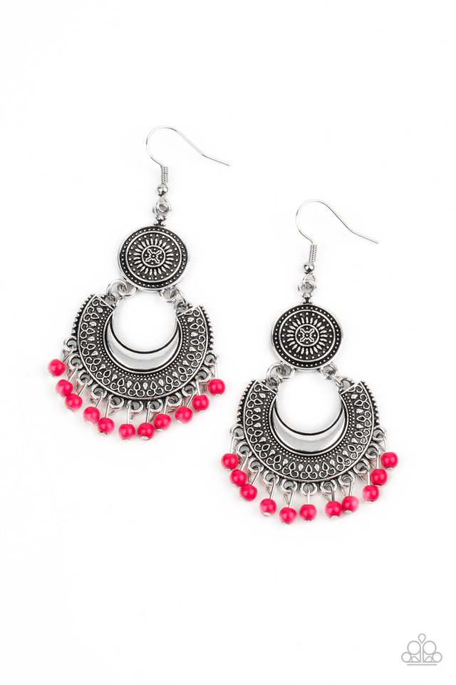 Yes I CANCUN - Pink - Paparazzi Earring Image