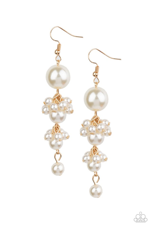 Ageless Applique - Gold - Paparazzi Earring Image