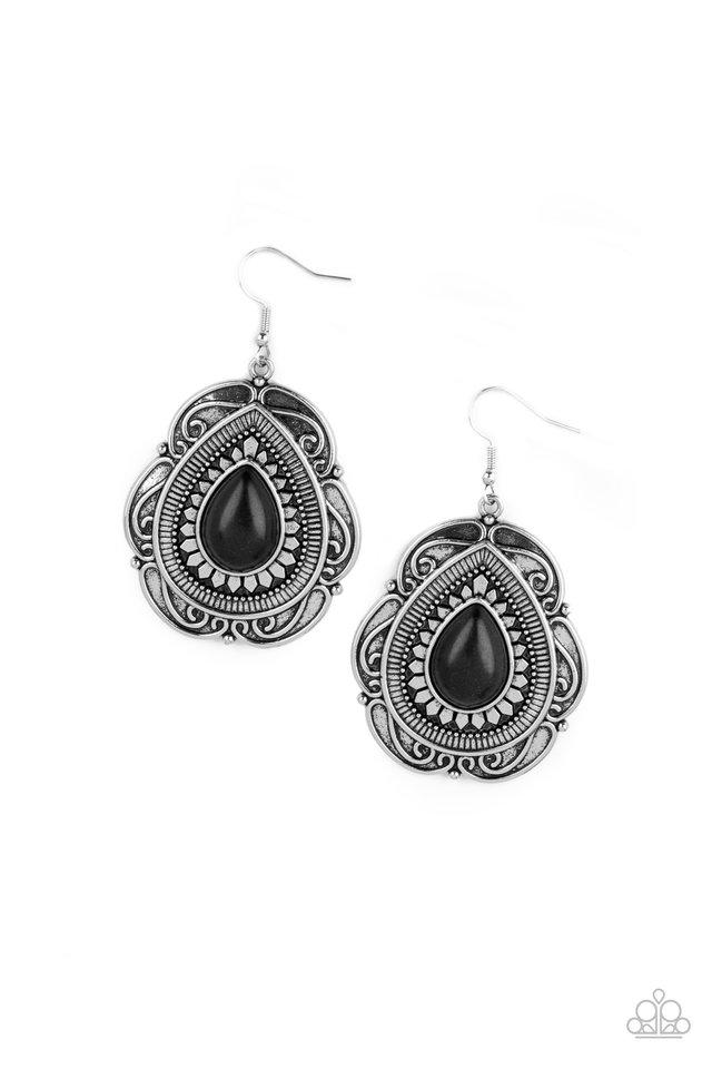 Southwestern Soul - Black - Paparazzi Earring Image