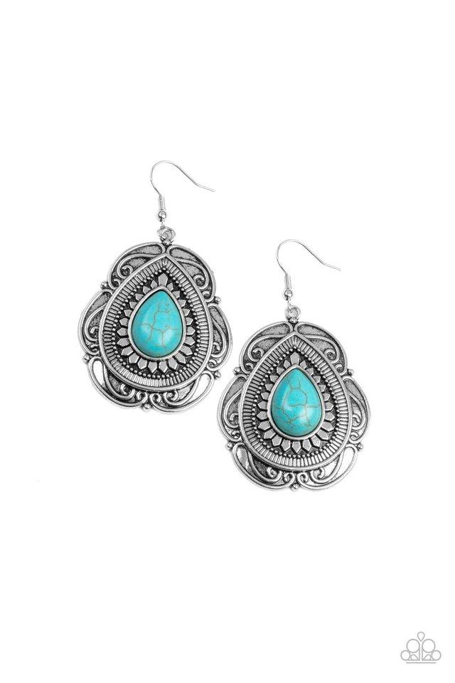 Southwestern Soul - Blue - Paparazzi Earring Image