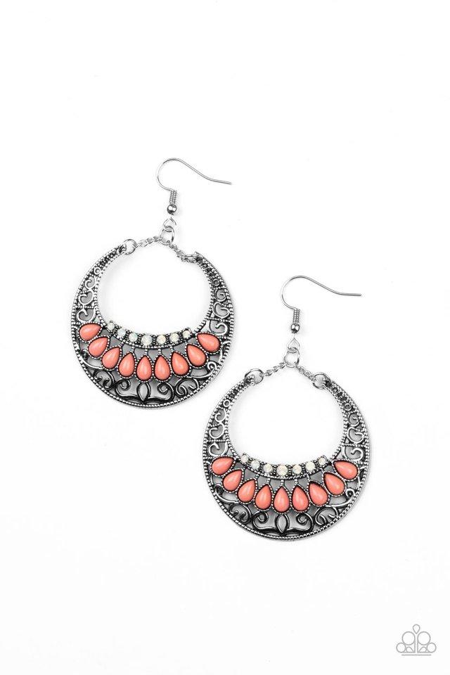 Crescent Couture - Orange - Paparazzi Earring Image
