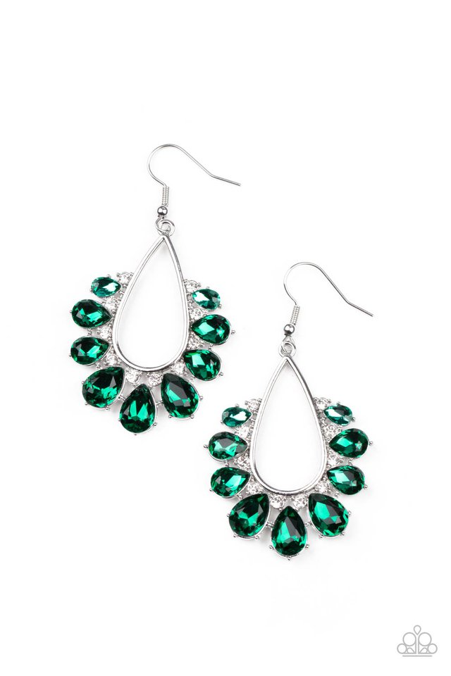 Two Can Play That Game - Green - Paparazzi Earring Image