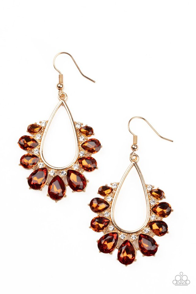 Two Can Play That Game - Brown - Paparazzi Earring Image