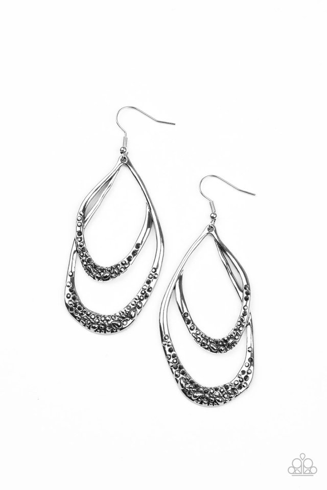 Beyond Your GLEAMS - Silver - Paparazzi Earring Image