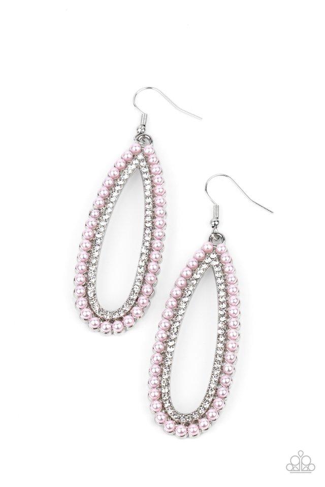 Glamorously Glowing - Pink - Paparazzi Earring Image