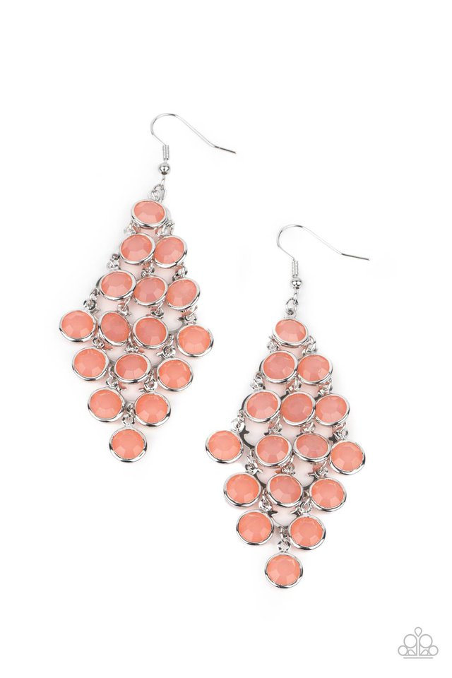 With All DEW Respect - Orange - Paparazzi Earring Image