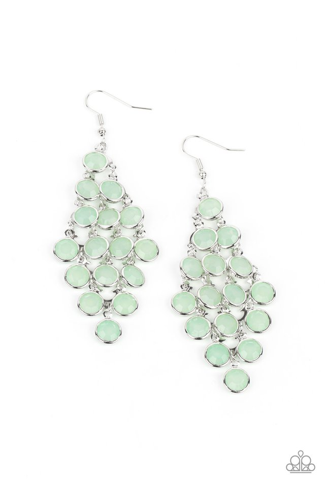 With All DEW Respect - Green - Paparazzi Earring Image