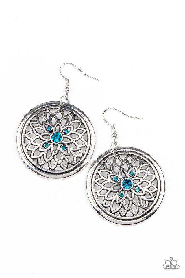 Mega Medallions - Blue - Paparazzi Earring Image