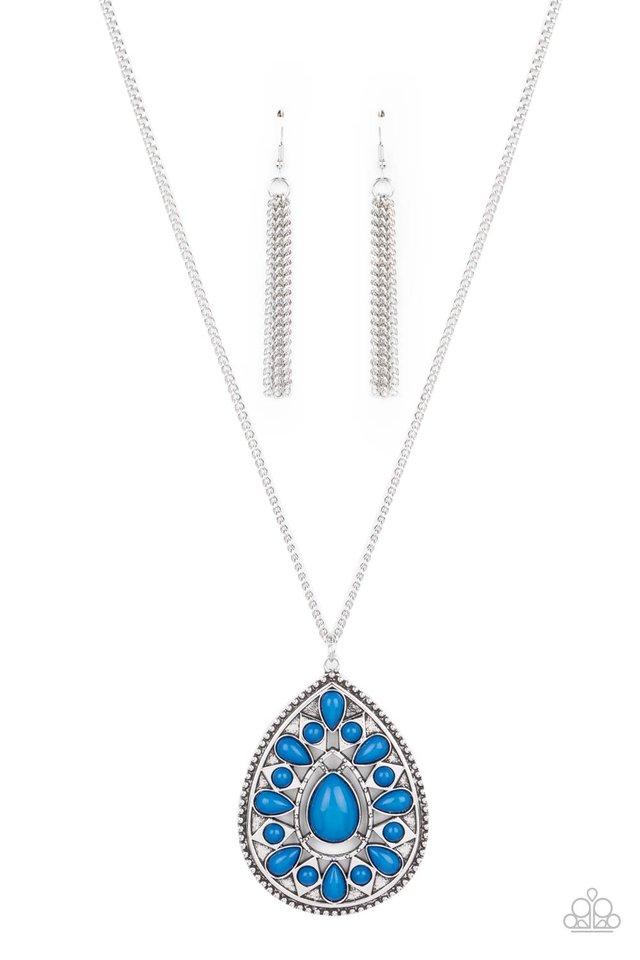Retro Prairies - Blue - Paparazzi Necklace Image
