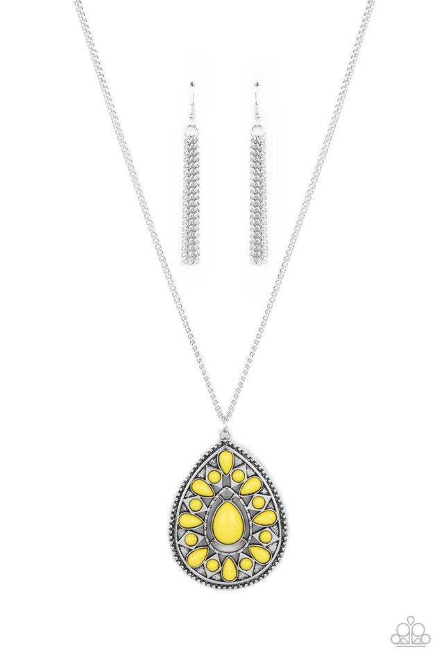 Retro Prairies - Yellow - Paparazzi Necklace Image