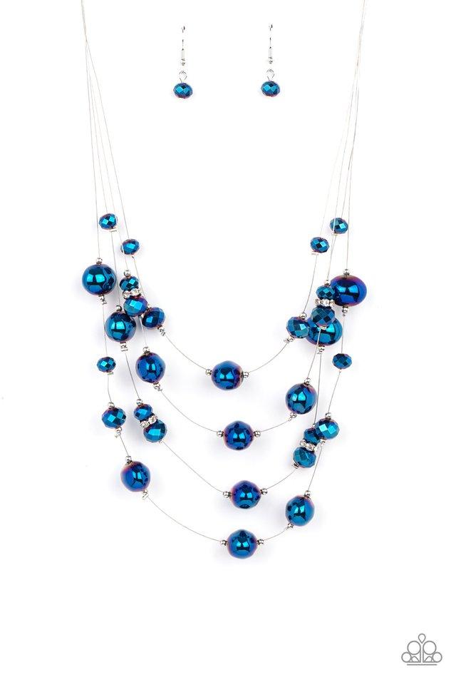 Cosmic Real Estate - Blue - Paparazzi Necklace Image