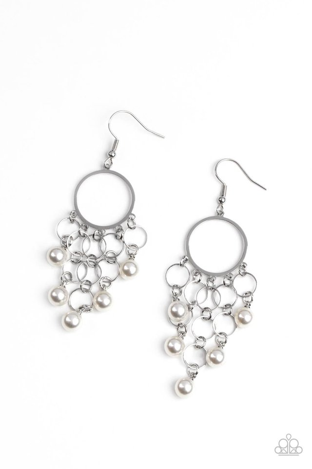 When Life Gives You Pearls - White - Paparazzi Earring Image