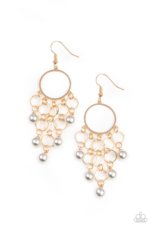 When Life Gives You Pearls - Gold - Paparazzi Earring Image