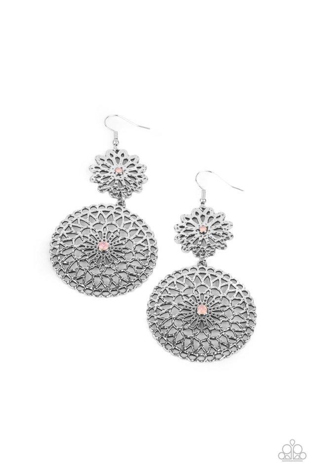 Garden Mantra - Pink - Paparazzi Earring Image