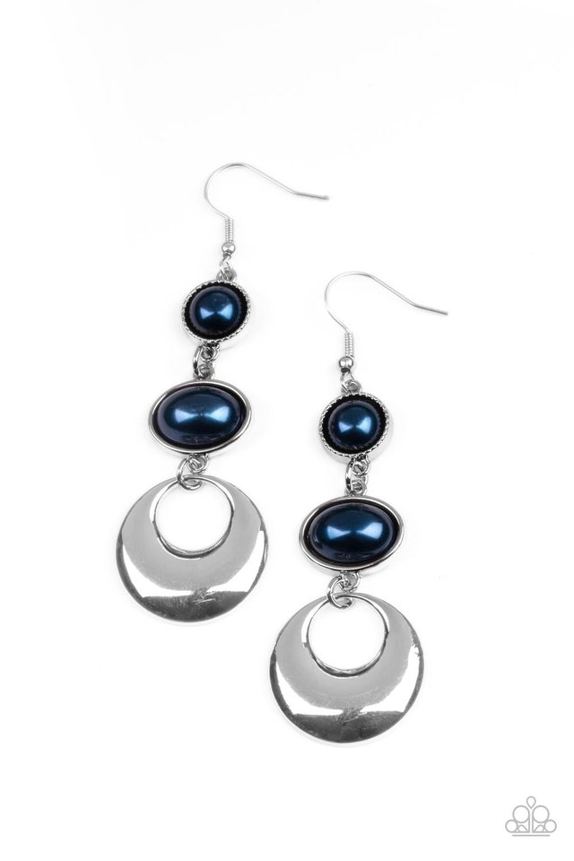 Bubbling To The Surface - Blue - Paparazzi Earring Image