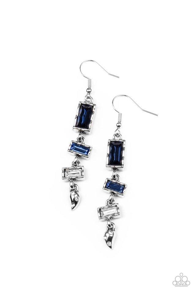 Modern Day Artifact - Blue - Paparazzi Earring Image