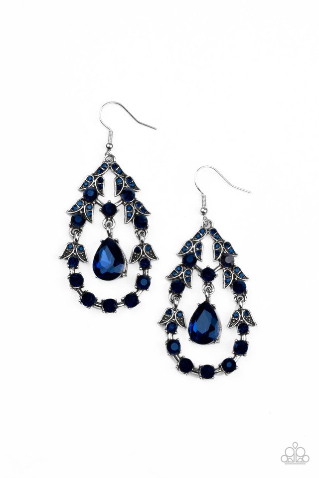 Garden Decorum - Blue - Paparazzi Earring Image