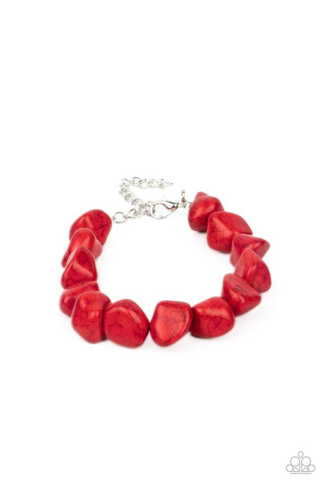 Prehistoric Paradise - Red - Paparazzi Bracelet Image