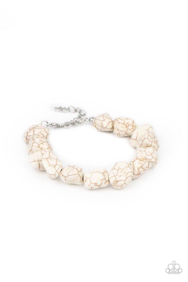 Prehistoric Paradise - White - Paparazzi Bracelet Image