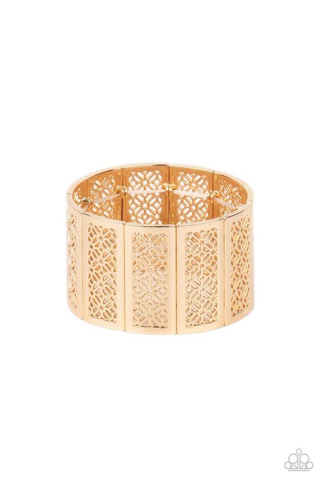 Thai Terrariums - Gold - Paparazzi Bracelet Image
