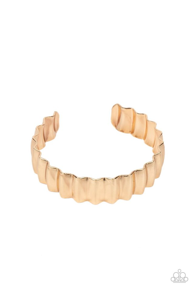 Across The HEIR-Waves - Gold - Paparazzi Bracelet Image