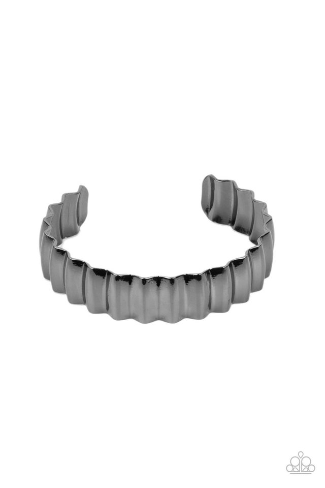 Across The HEIR-Waves - Black - Paparazzi Bracelet Image