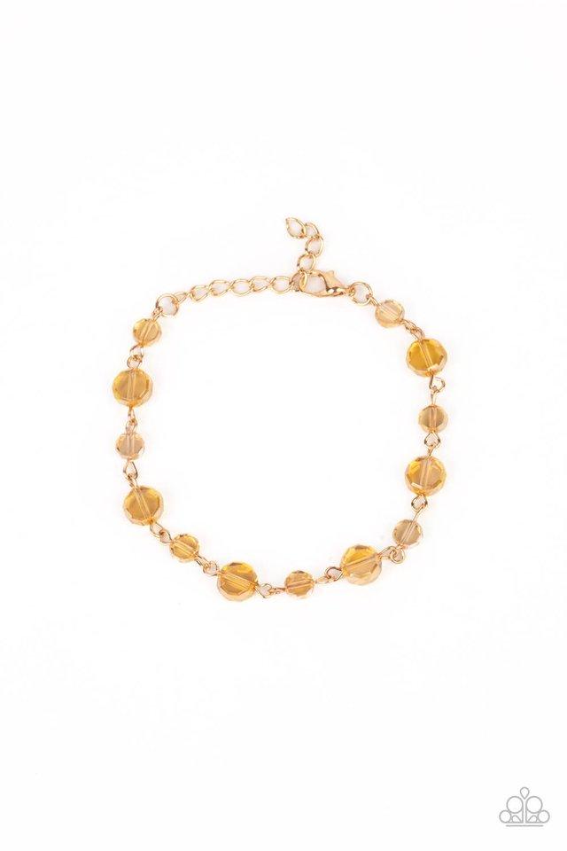 Colorfully Cosmic - Gold - Paparazzi Bracelet Image