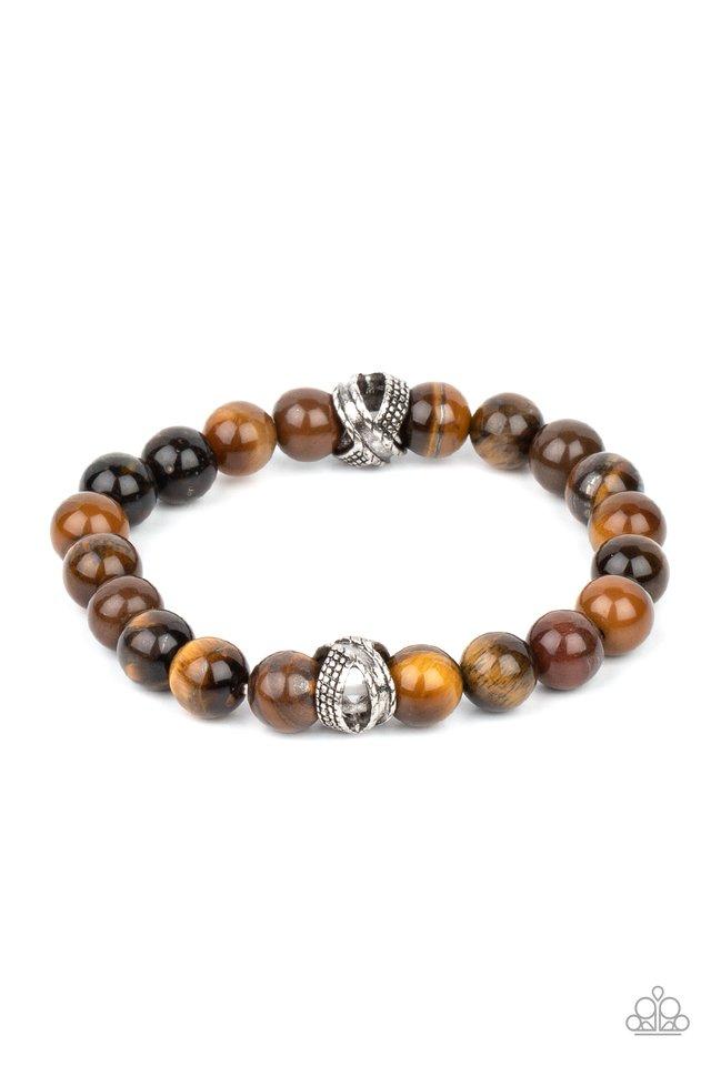 ZEN Commandments - Brown - Paparazzi Bracelet Image
