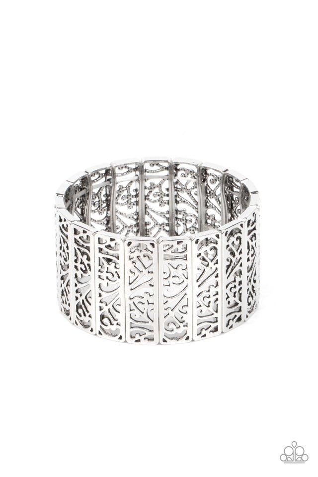 Ornate Orchards - Silver - Paparazzi Bracelet Image