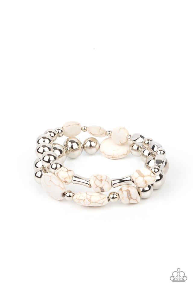 Authentically Artisan - White - Paparazzi Bracelet Image