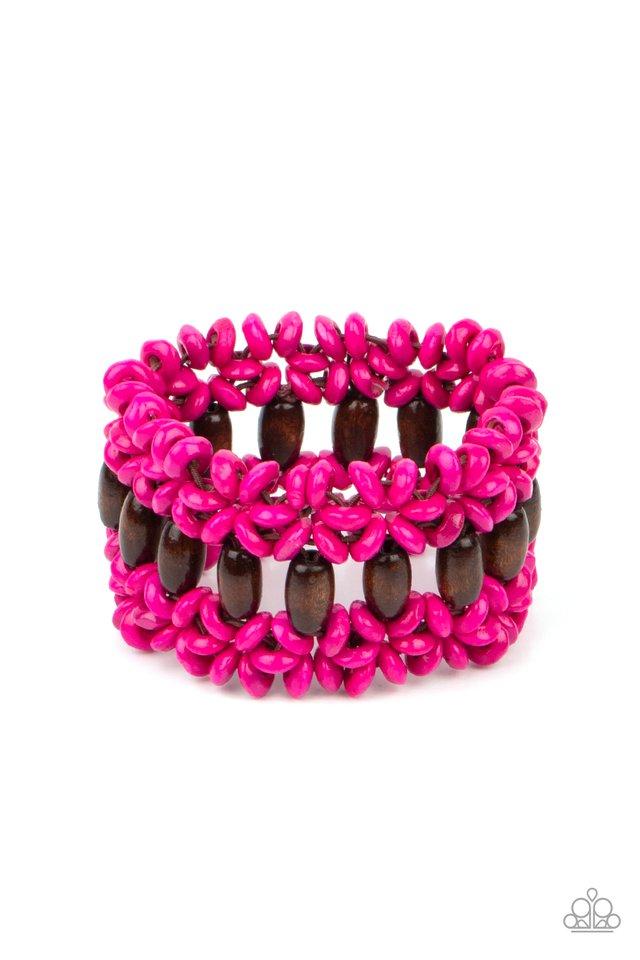 Bali Beach Retreat - Pink - Paparazzi Bracelet Image