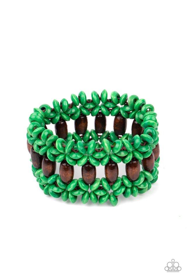 Bali Beach Retreat - Green - Paparazzi Bracelet Image