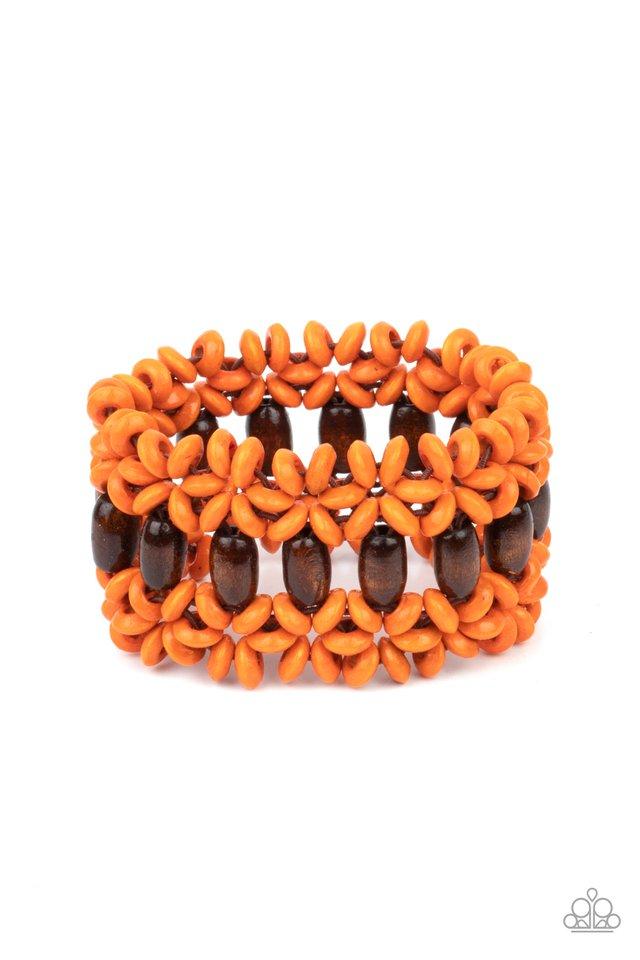 Bali Beach Retreat - Orange - Paparazzi Bracelet Image