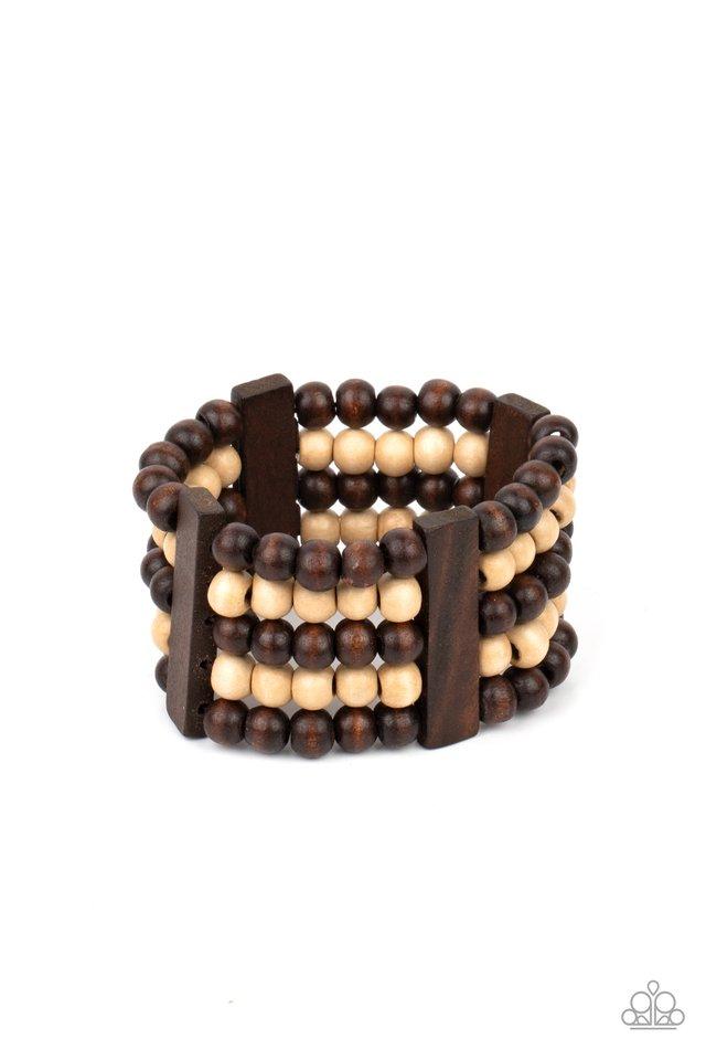 Caribbean Catwalk - Brown - Paparazzi Bracelet Image
