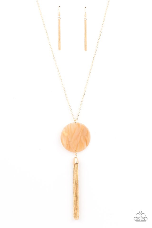 Up FAUX Grabs - Orange - Paparazzi Necklace Image