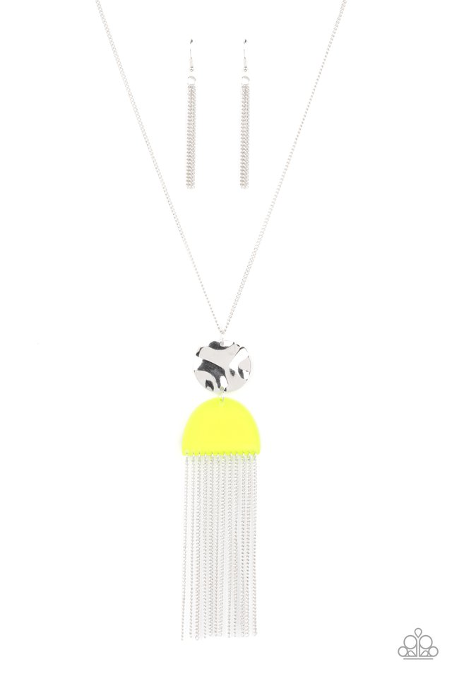Color Me Neon - Yellow - Paparazzi Necklace Image