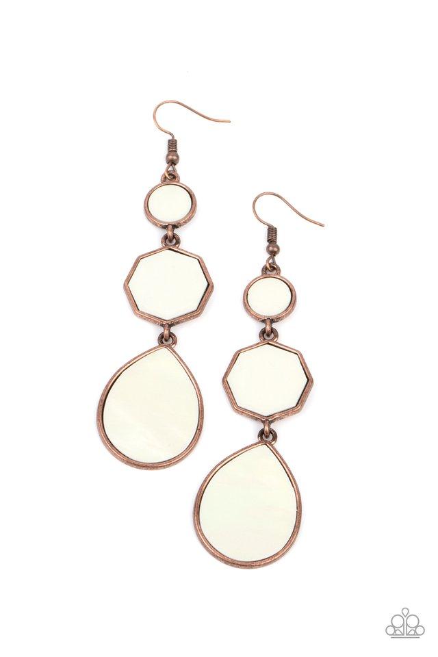 Progressively Posh - Copper - Paparazzi Earring Image