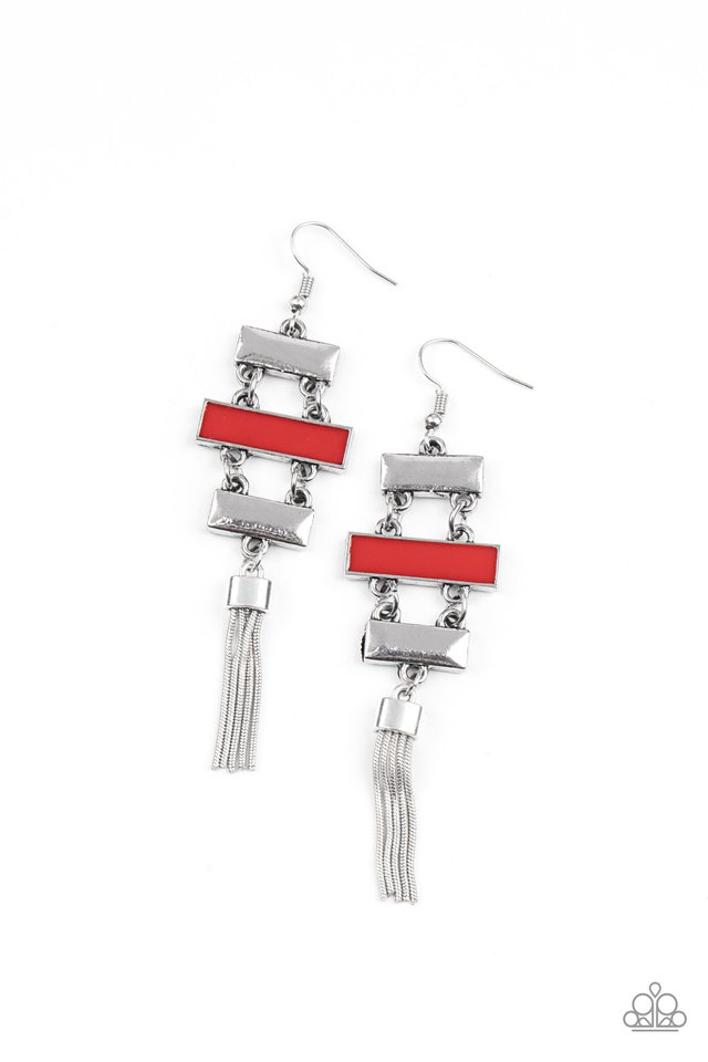 Mind, Body, and SEOUL - Red - Paparazzi Earring Image