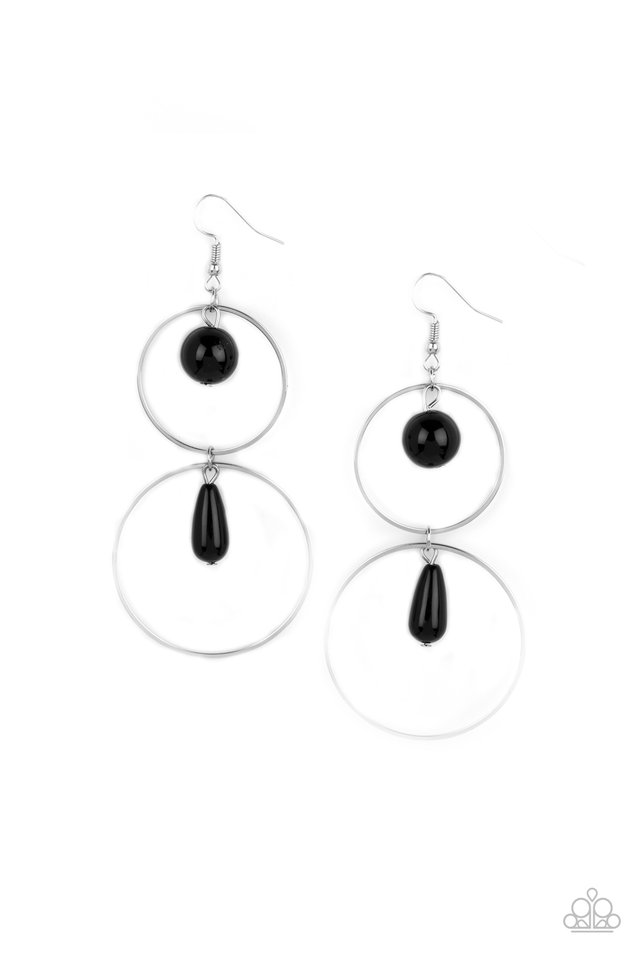 Cultured in Couture - Black - Paparazzi Earring Image