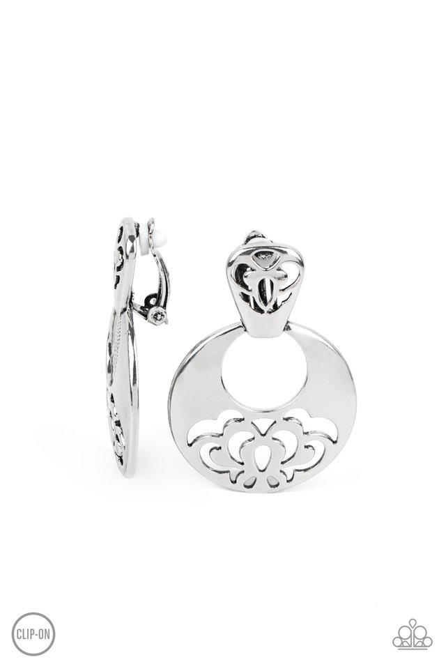 Industrial Eden - Silver - Paparazzi Earring Image
